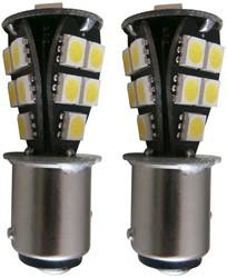 18 SMD Canbus LED verlichting 24v BAY15d - wit