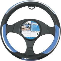 Auto stuurhoes zwart / blauw -snake-