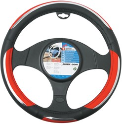 Auto stuurhoes zwart / rood -snake-
