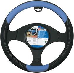 Auto stuurhoes zwart / blauw -skorpio-