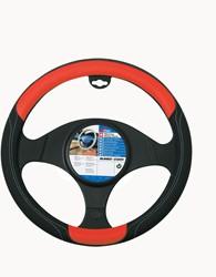 Auto stuurhoes zwart / rood -skorpio-