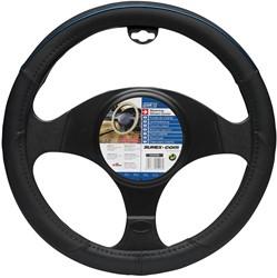 Auto Stuurhoes type Color-line Zwart en Blauw stiksel