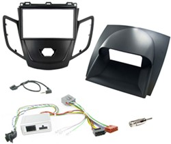2DIN KIT Ford Fiesta 08-10 zwart frame, display grijs