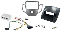 2DIN KIT Ford Fiesta 10> grafiet frame, display grijs