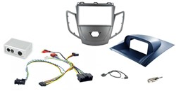2DIN KIT Ford Fiesta 10> grafiet frame, display blauw