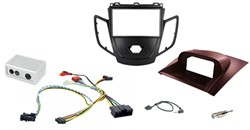 2DIN KIT Ford Fiesta 10> zwart frame, display rood