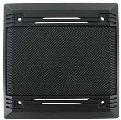 Speakergrill vierkant zwart 140 x 140mm 1 stuk