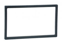 Afwerkframe voor 2 DIN frame,110x188,5mm -97x173,5mm zwart