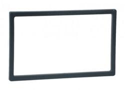 Afwerkframe voor 2-DIN, 118x188 -102x173 zwart