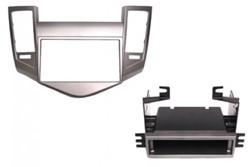 2DIN ECO frame Chevrolet, Cruze, zilverkleurig