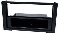 1-DIN inbouwframe, Saab 9-3 2006-2014 zwart