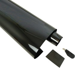 Ruitenfolie donkergrijs 5% 300 x 76cm