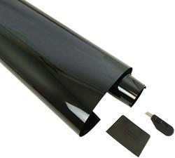 Ruitenfolie krasbestendig donkergrijs 5% 300 x 76 cm