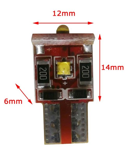 3 Canbus CREE LED W5W-T10 wit