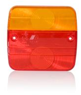 3-Functie achterlicht lens rood/oranje