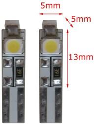 24v 3 SMD LED W3W-T5 - wit