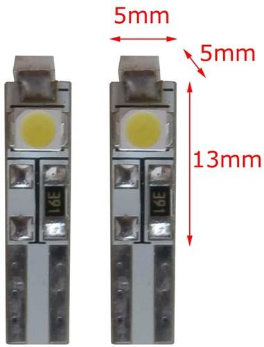 24v 3 SMD LED W3W-T5 - wit-1