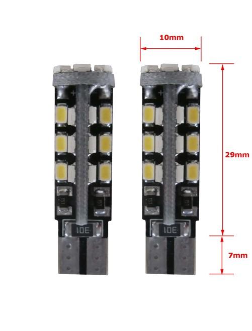30 SMD CANBUS LED Stadslicht W5W T10 - blauw-3