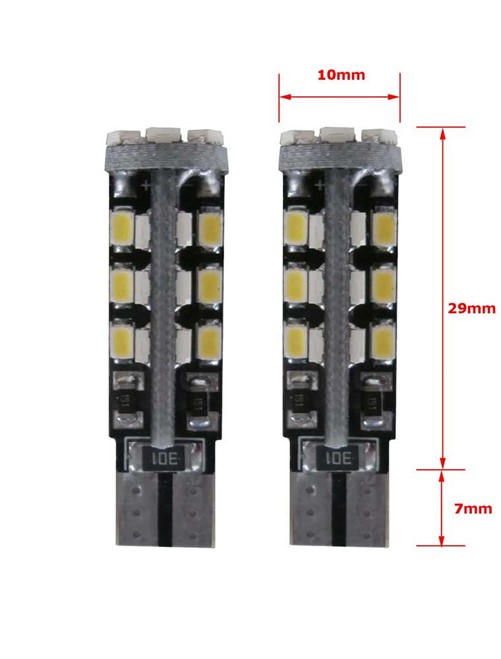 30 SMD CANBUS LED Stadslicht W5W T10-3