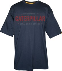 CAT T-Shirt GOING STRONG, donkerblauw
