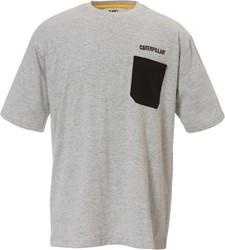 CAT T-Shirt WORKMAN POCKET, grijs