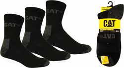 CAT Zomer-werksokken, zwart, 3-pack