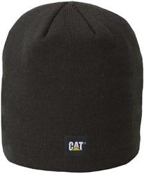 CAT Gebreide muts Logo Knit FIJN, zwart