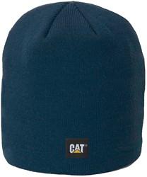 CAT Gebreide muts Logo Knit FIJN, donkerblauw