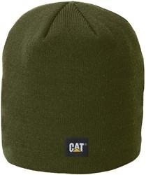 CAT Gebreide muts Logo Knit FIJN, mosgroen