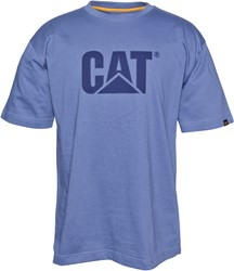 CAT T-Shirt, TM Logo, niagara-blauw