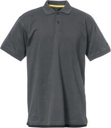 CAT Polo-Shirt, Classic-Cotton, donkergrijs