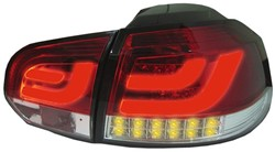 LED achterlicht unit Golf 6 Red