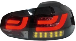 LED achterlicht unit Golf 6 Black/Smoke