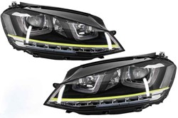 3D LED koplamp VW Golf 7 GTI Yellow Look