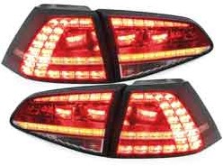3D LED achterlicht unit VW Golf 7 GTI Red Crystal