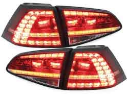 3D LED achterlicht unit  GTI Red Crystal geschikt voor VW Golf 7