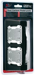 Carbon Pedaal 'Pads' Zilver