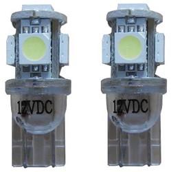 W5W-T10 Xenon Look 5 SMD LED stadslicht 10.000K - blauw