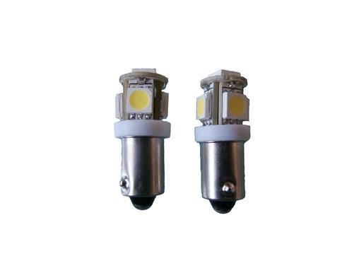Xenon Look stadslicht 5 SMD LED H6W 6000k - wit