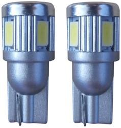 6 SMD LED stadslicht W5W - wit