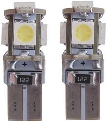 5 SMD CANBUS LED Stadslicht W5W T10 Blauw - 10.000k