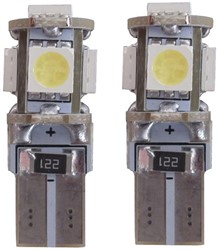 Xenon Look 5 SMD LED stadslicht W5W T10 5000k