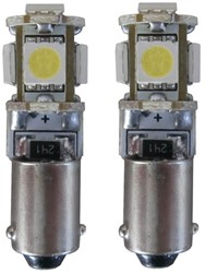 5 SMD CANBUS LED Stadslicht H6W