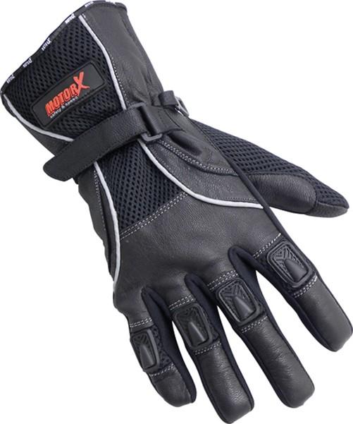 Motorhandschoenen Leder S zwart