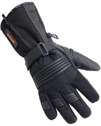 Motorhandschoenen leder winter zwart M
