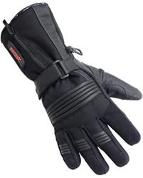 Motorhandschoenen leder winter zwart L