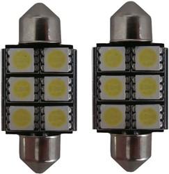 6 SMD Canbus LED kenteken C5W