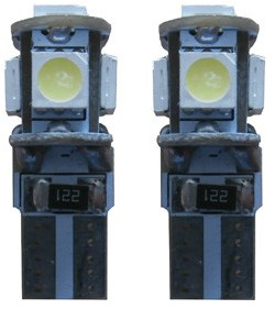 Canbus LED 5 SMD W5W binnenverlichting geel