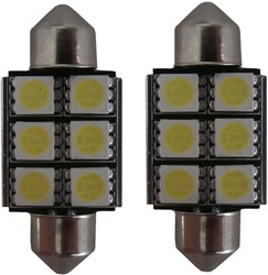 6 SMD LED kentekenverlichting 36mm C5W