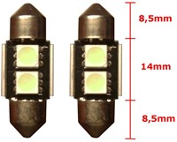 2 SMD Wit Canbus LED binnenverlichting 31mm-2